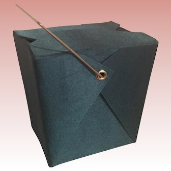 Clever Green Satin Leftovers Carry Out Evening Bag