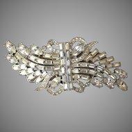 Rhinestone Duette 1950's Brooch Dress Clip