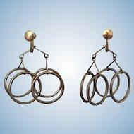 Swinging 60's Mobile Earrings Screwback