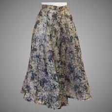 50's Organza Full Circle Skirt with Net Petticoat