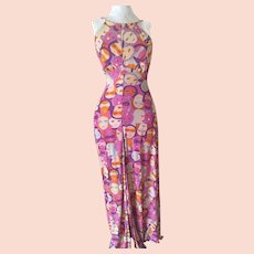 Boho Hippie 70's Jersey Halter Maxi Dress Never Worn