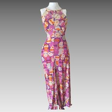 Late 60's/early 70's Jersey Halter Maxi Dress Never Worn