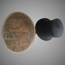 Antique German Beaver Top Hat and Box