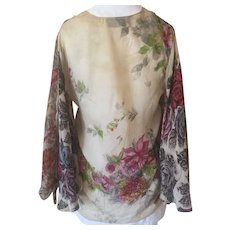 Vintage Silk Bed Jacket