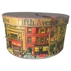 Mid Century Chromolithograph Dobbs Fifth Avenue Hat Box