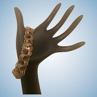 Vintage 55g 14K Gold Triple Link Chain Bracelet