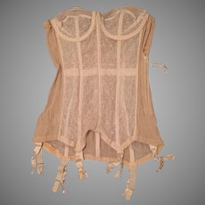 1950's Merry Widow Bustier Corset (2 pairs Nylons Included)