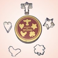 Miniature Cookie Cutters and Tin