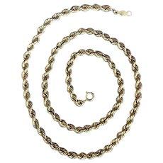 Vintage 14 K Yellow Gold Rope Bracelet
