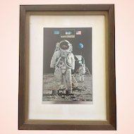 Vintage Apollo 11 Commemorative Etched Foil Print - John Berkey