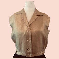 Custom Fitted Gold Lame Top Top 14-16