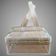 Mid Century Clear Lucite Box Purse