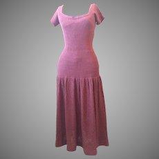 1940's Vintage Couture Drop Waist Dress 10-12