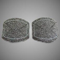 Unused Vintage French Cut Steel Bead Buckles