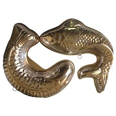 Pair of Vintage Fish Molds