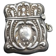 Sterling Lady's Stamp Safe Chatelaine Case