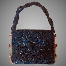 Rare Model -  1942 Vintage Du Bonnette Beaded Evening Bag