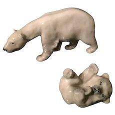 Lladro Polar Bear and Cub