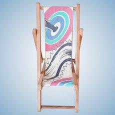 Dolls Miniature Deck Chair - Circa 1920 - 1930