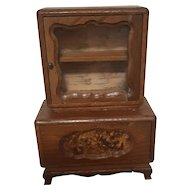 Antique Dolls House Miniature with opening doors - Wooden Dresser/Cabinet - Circa 1920's-30's