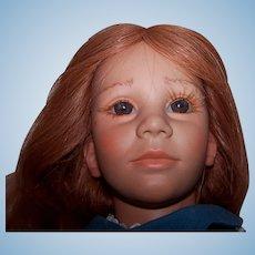 "Annette Himstedt Vinyl Doll ""Toni"" - American Heartland Children Collection"