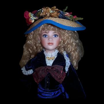 "Jan McLean artist Doll ""ELIZA BLUE"" - 25"" porcelain doll"
