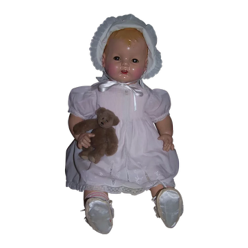 """Large 25"""" Effanbee Sugar Baby Composition Doll - 1936"""