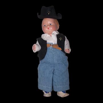 """1930's Effanbee Grumpy Boy - 11"""" Height"""
