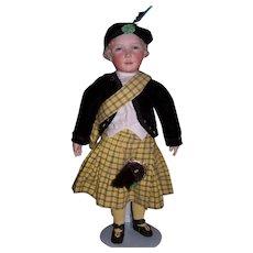 One of a kind Original Artist sculptured porcelain doll - Dougal