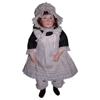 One of a kind Original Artist sculptured porcelain doll - Miss Minna Simpson