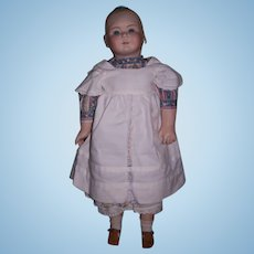 """Artist made doll with moulded bow in hair - 29"""" Height"""