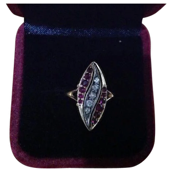 Antique Ruby and Diamond Ring with Valuation Certificate