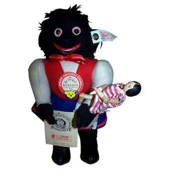 Steiff Molly Golli and Peg - Limited Edition Golliwog with Peg Doll - Fabulous Collectors Item!