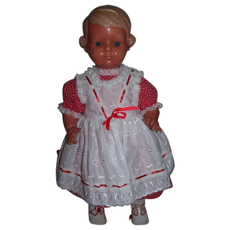 1930's German Celluloid Turtlemark Doll - faults as described
