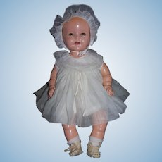 Composition Baby Shirley Temple Doll - 19""