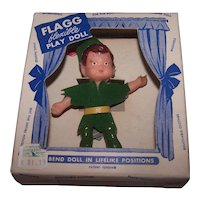 Flagg flexible Play Doll from the 1950's era.  Pixie?