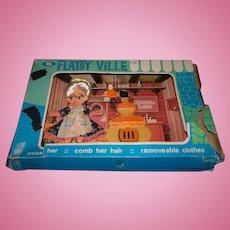 Vintage Ideal Flatsy Doll - Grandma Baker in original box
