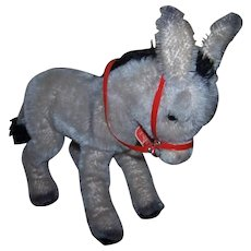 Vintage German Schuco Mohair Donkey in fabulous condition