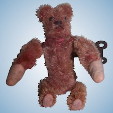 Hard to find antique German Schuco Tumbling Acrobat mohair bear - Working condition