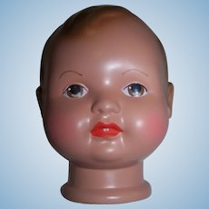"Celluloid Doll Head with Painted Eyes - Cellba Celluloid  ""NEW"" Old Stock"