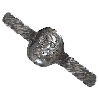Antique George Shiebler Sterling Silver Arts & Crafts Greek God Sterling Silver Brooch