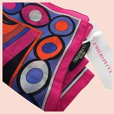 Emilio Pucci NEW With Tags Vintage Scarf