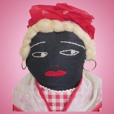 Black cloth Mammy Doll circa 1930