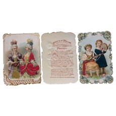 1890's French  Fabric Card's advert chocolate