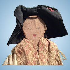 Antique wooden and cloth doll