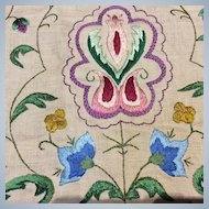 Arts craft embroidered panel