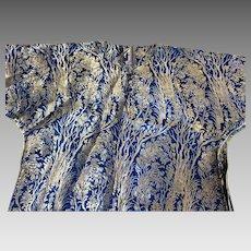 1920's ArtDeco robe/kaftan blue /silver larme