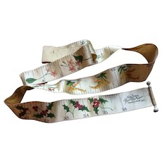 Victorian tape measure Christmas holly & flower's