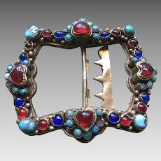 Edwardian  Turquoise & paste Heart Buckle