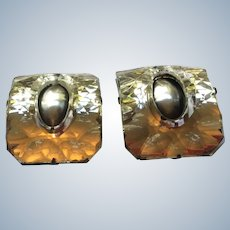 1920's mirrored French Shoe Buckles